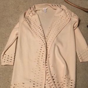 Chico's cream sweater jacket